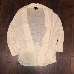 Express white cardigan size small